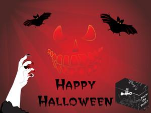 Illustration For Halloween Background