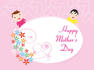 Illustration For Happy Mother's Day Celebration
