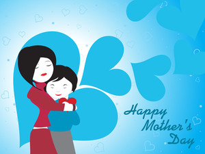 Illustration For Happy Mother's Day