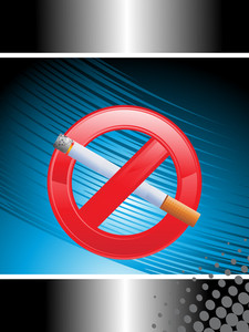 Illustration For No Smoking