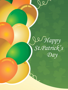Illustration Gretting Card For Patrick Day