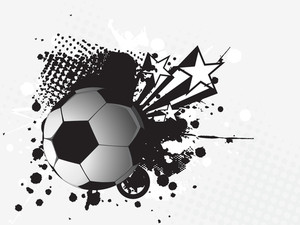 Illustration- Grungy Soccer Ball