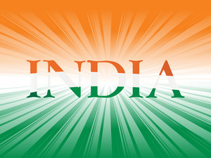 Illustration India In Flag Color