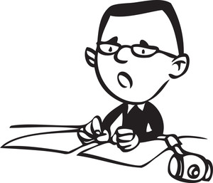 Illustration Of A Advocate With Paper.
