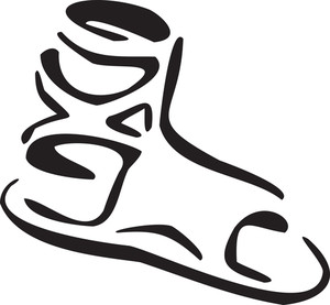Illustration Of A Ancient Greece Shoe.