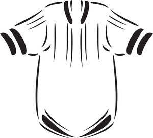 Illustration Of A Baseball Player Uniform.
