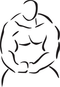 Illustration Of A Body Builder.