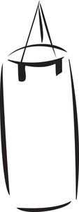 Illustration Of A Boxing Bag.