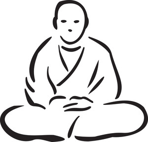 Illustration Of A Buddhist Monk.