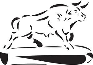 Illustration Of A Bull Monument.