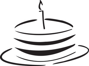 Illustration Of A Cake With Candle.