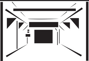 Illustration Of A Car Wash Tunnel.