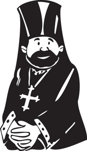 Illustration Of A Church Father.