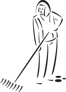 Illustration Of A Cleaning Tool For Garden.
