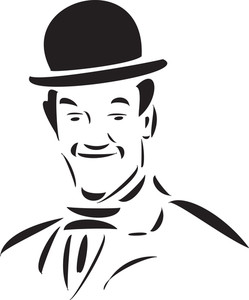 Illustration Of A Comedian's Face In Smiling Way.