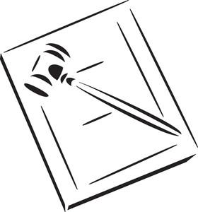 Illustration Of A Court Hammer.