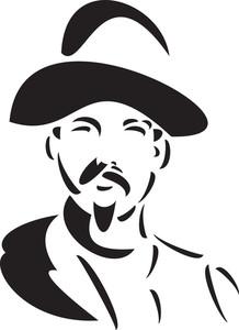 Illustration Of A Cowboy.