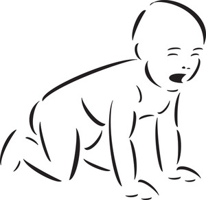 Illustration Of A Crying Baby.