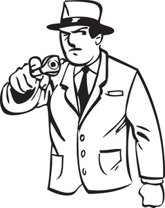 Illustration Of A Detective Man.
