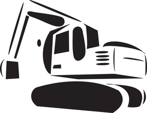 Illustration Of A Excavator.