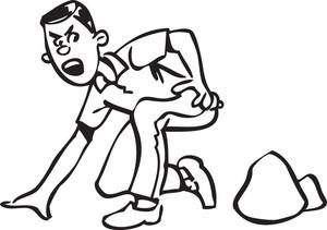 Illustration Of A Falling Man.