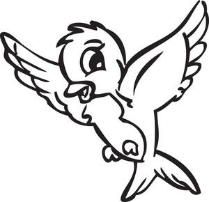 Illustration Of A Flying Bird.