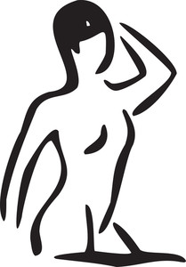 Illustration Of A Girl Coming Out From Taking Swim.