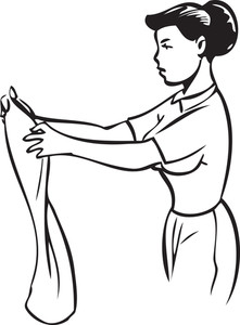 Illustration Of A Girl Seeing A Dress.
