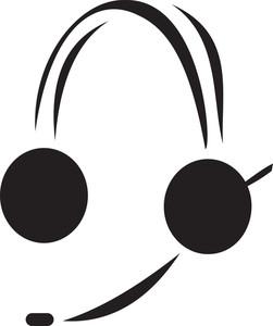 Illustration Of A Headphone.