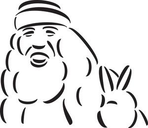 Illustration Of A Hippie Man.