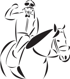 Illustration Of A Horse Rider.