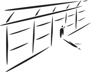 Illustration Of A Jailor In Jail.