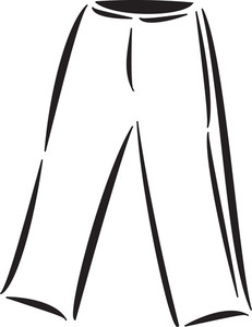 Illustration Of A Jogging Trousers.