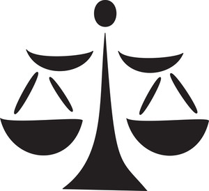 Illustration Of A Justice Symbol.