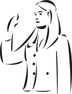 Illustration Of A Lady Lawyer.