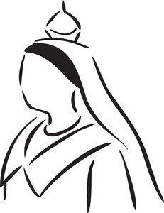 Illustration Of A Lady Monarchy.