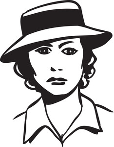 Illustration Of A Lady With Stylish Hat.