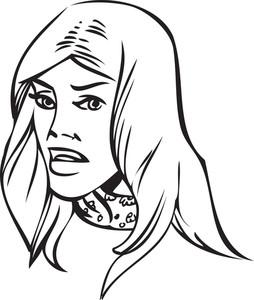 Illustration Of A Lady.