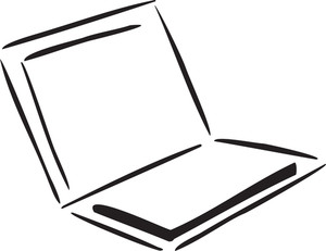 Illustration Of A Laptop.