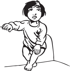 Illustration Of A Little Kid.