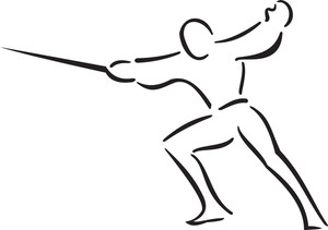 Illustration Of A Man Doing Martial Art.