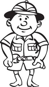 Illustration Of A Man In Uniform.