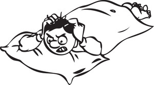 Illustration Of A Man Lying With Anger.