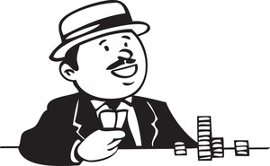 Illustration Of A Man Playing Game.