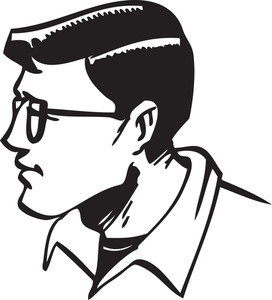Illustration Of A Man With Eyeglasses.