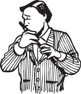Illustration Of A Man With Flute.