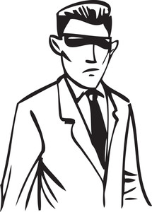 Illustration Of A Man With Glasses.