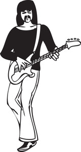 Illustration Of A Man With Guitar.