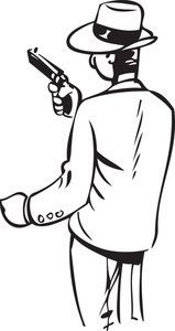 Illustration Of A Man With Gun.