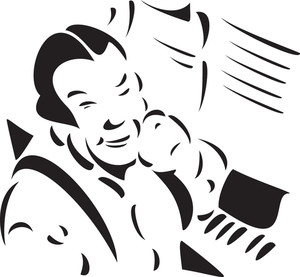 Illustration Of A Man With Piano.